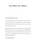SUY THÂN CẤP (PHẦN 2)