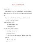 Giáo án lớp 2 môn Tập Đọc: Bài 13 : NGƯỜI THẦY CŨ