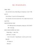 Giáo án lớp 2 môn Tập Đọc: Tiết 1 : ÔN TẬP GIỮA KỲ II