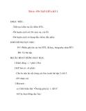 Giáo án lớp 2 môn Tập Đọc: Tiết 6 : ÔN TẬP GIỮA KỲ I