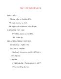 Giáo án lớp 2 môn Tập Đọc: Tiết 7 : ÔN TẬP GIỮA KỲ I