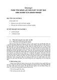 PHÂN TÍCH DOANH NGHIỆP - CHƯƠNG II: PHÂN TÍCH NĂNG LỰC SẢN XUẤT VÀ KẾT QUẢ KINH DOANH CỦA DOANH NGHIỆP