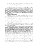 MỘT SỐ PHƯƠNG PHÁP ĐỂ ĐỊNH GIÁ GIÁ TRỊ MÔI TRƯỜNG