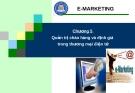 E-MARKETING: Chương 5 Quản trị chào hàng và định giá trong thương mại điện tử