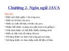 Chapter 2- Ngôn ngữ JAVA
