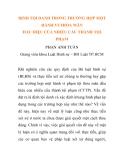 """Báo cáo nghiên cứu khoa học: """"ĐỊNH TỘI DANH TRONG TRƯỜNG HỢP MỘT HÀNH VI THỎA MÃN DẤU HIỆU CỦA NHIỀU CẤU THÀNH TỘI PHẠM"""""""