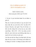 """Báo cáo nghiên cứu khoa học: """"TÒA ÁN HÌNH SỰ QUỐC TẾ Một số vấn đề pháp lý cơ bản"""""""