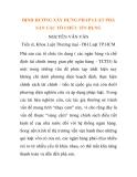 """Báo cáo nghiên cứu khoa học: """"ĐỊNH HƯỚNG XÂY DỰNG PHÁP LUẬT PHÁ SẢN CÁC TỔ CHỨC TÍN DỤNG NGUYỄN VĂN VÂN """""""