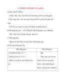 Giáo án lớp 2 môn Thủ Công: LÀM ĐỒNG HỒ ĐEO TAY (tiết2 )