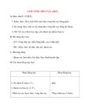 Giáo án lớp 2 môn Thủ Công: LÀM VÒNG ĐEO TAY (tiết2)