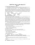 10 Đề kiểm tra chất lượng HK1 môn Tiếng Anh 12
