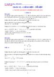 Chuyên đề: Hoán vị - chỉnh hợp - tổ hợp