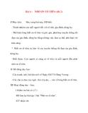 Giáo án lớp 5 môn Đạo Đức: Bài 4 :NHỚ ƠN TỔ TIÊN (tiết 2)