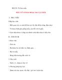 Giáo án lớp 5 môn Mỹ Thuật: BÀI 20: Vẽ theo mẫu MẪU VẼ CÓ HAI HOẶC BA VẬT MẪU