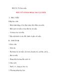 Giáo án lớp 5 môn Mỹ Thuật: BÀI 24: Vẽ theo mẫu MẪU VẼ CÓ HAI HOẶC BA VẬT MẪU