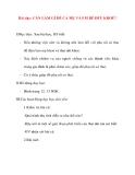 Giáo án lớp 5 môn Khoa Học: Bài dạy: CẦN LÀM GÌ ĐỂ CẢ MẸ VÀ EM BÉ ĐỀU KHOẺ?