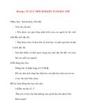 Giáo án lớp 5 môn Khoa Học: Bài dạy: TỪ LÚC MỚI SINH ĐẾN TUỔI DẬY THÌ