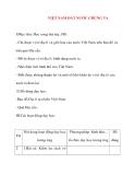 Giáo án lớp 5 môn Địa Lý: VIỆT NAM ĐẤT NƯỚC CHÚNG TA