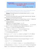 Một số bài toán số học trong các kì thi olympic toán học