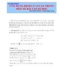 Ứng dụng định lý Lucas trong một số bài tập số học