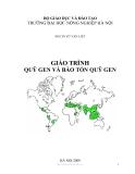 GIÁO TRÌNH QUỸ GEN VÀ BẢO TỒN QUỸ GEN ( PGS.TS VŨ VĂN LIẾT ) - Chương mở đầu
