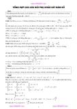 Tổng hợp các câu hỏi phụ khảo sát hàm số