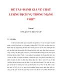 """ĐỀ TÀI """"ĐÁNH GIÁ VỀ CHẤT LƯỢNG DỊCH VỤ TRONG MẠNG VOIP"""" CHƯƠNG I_1"""