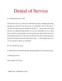 khái quát về DoS: DoS (Denial of Service)