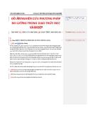 ĐỒ ÁN NGHIÊN CỨU PHƯƠNG PHÁP ĐO LƯỜNG TRONG GIAO THỨC BICC VÀ MGCP_CHƯƠNG 2