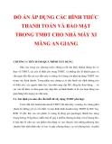 ĐỒ ÁN ÁP DỤNG CÁC HÌNH THỨC THANH TOÁN VÀ BẢO MẬT TRONG TMĐT CHO NHÀ MÁY XI MĂNG AN GIANG_ CHƯƠNG 5