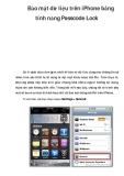 Bảo mật dữ liệu trên iPhone bằng tính năng Passcode Lock