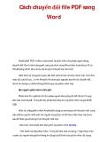 Cách chuyển đổi file PDF sang Word