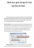 Cách đơn giản để giữ bí mật các file cá nhân