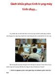 Cách khắc phục tình trạng máy tính chạy...