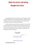 Cách tìm kiếm ảnh bằng Google hữu hiệu