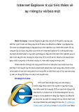 Internet Explorer 8 cải tiến thêm về sự riêng tư và bảo mật