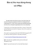 Bảo vệ thư mục dùng chung với IPSec