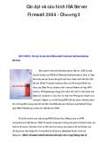 Cài đặt và cấu hình ISA Server Firewall 2004 - Chương 3
