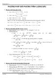 Phương pháp giải phương trình lượng giác
