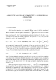 """Báo cáo toán học: """"Absolute values of completely hyponormal operators """""""