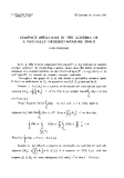 """Báo cáo toán học: """"Compact operators in the algebra of a partially ordered measure space """""""