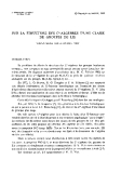"""Báo cáo toán học: """"Sur la structure des C*-algebres d'une classe de groupes de Lie """""""