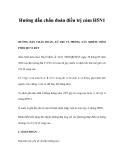 Hướng dẫn chẩn đoán điều trị cúm H5N1