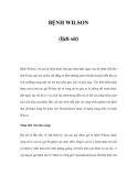 BỆNH WILSON (lịch sử)