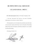 HỆ THỐNG PHÂN LOẠI - ĐỊNH DANH CÁC LOÀI NẤM DA – PHẦN 3