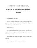 CÁC PHƯƠNG PHÁP XÉT NGHIỆM, NUÔI CẤY, PHÂN LẬP, CHẨN ĐOÁN NẤM – PHẦN 1