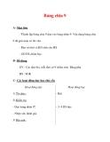 Giáo án môn Toán lớp 3 :Tên bài dạy : Bảng chia 9