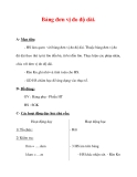 Giáo án môn Toán lớp 3 :Tên bài dạy : Bảng đơn vị đo độ dài.