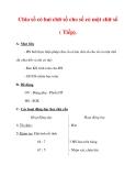 Giáo án môn Toán lớp 3 :Tên bài dạy : Chia số có hai chữ số cho số có một chữ số ( Tiếp).