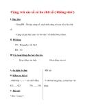 Giáo án môn Toán lớp 3 :Tên bài dạy : Cộng, trừ các số có ba chữ số ( không nhớ )